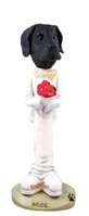 Great Dane Black w/Uncropped Ears Bride Doogie Collectable Figurine