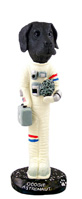 Great Dane Black w/Uncropped Ears Astronaut Doogie Collectable Figurine