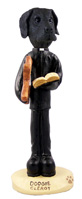 Great Dane Black w/Uncropped Ears Clergy Doogie Collectable Figurine