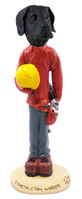 Great Dane Black w/Uncropped Ears Construction Worker Doogie Collectable Figurine