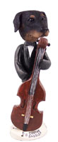 Doberman Pinscher Black Uncropped Bassist Doogie Collectable Figurine