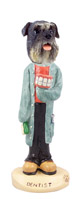 Schnauzer Gray w/Uncropped Ears Dentist Doogie Collectable Figurine