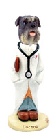 Schnauzer Gray w/Uncropped Ears Doctor Doogie Collectable Figurine