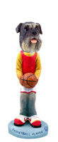 Schnauzer Gray w/Uncropped Ears Basketball Doogie Collectable Figurine