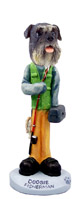 Schnauzer Gray w/Uncropped Ears Fisherman Doogie Collectable Figurine
