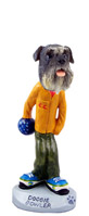Schnauzer Gray w/Uncropped Ears Bowler Doogie Collectable Figurine