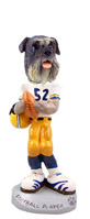 Schnauzer Gray w/Uncropped Ears Football Player Doogie Collectable Figurine
