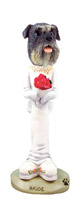 Schnauzer Gray w/Uncropped Ears Bride Doogie Collectable Figurine