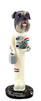 Schnauzer Gray w/Uncropped Ears Astronaut Doogie Collectable Figurine