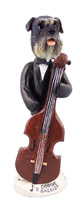 Schnauzer Gray w/Uncropped Ears Bassist Doogie Collectable Figurine