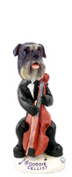 Schnauzer Gray w/Uncropped Ears Cellist Doogie Collectable Figurine
