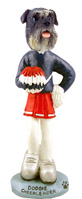 Schnauzer Gray w/Uncropped Ears Cheerleader Doogie Collectable Figurine
