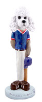 Poodle White w/Sport Cut Baseball Doogie Collectable Figurine