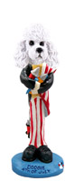 Poodle White w/Sport Cut 4th of July Doogie Collectable Figurine