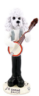 Poodle White w/Sport Cut Banjo Doogie Collectable Figurine
