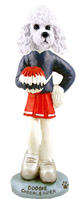 Poodle White w/Sport Cut Cheerleader Doogie Collectable Figurine