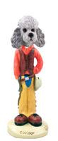 Poodle Gray w/Sport Cut Cowboy Doogie Collectable Figurine