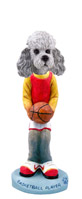 Poodle Gray w/Sport Cut Basketball Doogie Collectable Figurine