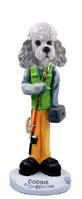 Poodle Gray w/Sport Cut Fisherman Doogie Collectable Figurine