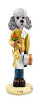 Poodle Gray w/Sport Cut Chef Doogie Collectable Figurine
