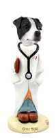Jack Russell Terrier Black & White w/Smooth Coat Doctor Doogie Collectable Figurine