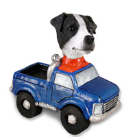Jack Russell Terrier Black & White w/Smooth Coat Pickup Doogie Collectable Figurine