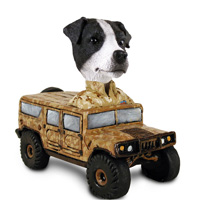 Jack Russell Terrier Black & White w/Smooth Coat Hummer Doogie Collectable Figurine