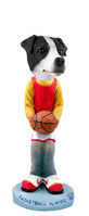 Jack Russell Terrier Black & White w/Smooth Coat Basketball Doogie Collectable Figurine