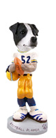 Jack Russell Terrier Black & White w/Smooth Coat Football Player Doogie Collectable Figurine