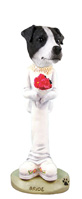 Jack Russell Terrier Black & White w/Smooth Coat Bride Doogie Collectable Figurine
