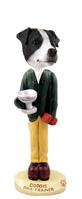 Jack Russell Terrier Black & White w/Smooth Coat Dog Trainer Doogie Collectable Figurine