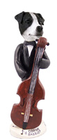 Jack Russell Terrier Black & White w/Smooth Coat Bassist Doogie Collectable Figurine