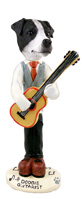 Jack Russell Terrier Black & White w/Smooth Coat Guitarist Doogie Collectable Figurine