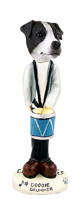 Jack Russell Terrier Black & White w/Smooth Coat Drummer Doogie Collectable Figurine