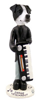 Jack Russell Terrier Black & White w/Smooth Coat Keyboardist Doogie Collectable Figurine