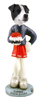 Jack Russell Terrier Black & White w/Smooth Coat Cheerleader Doogie Collectable Figurine