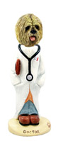 Lhasa Apso Blonde Doctor Doogie Collectable Figurine