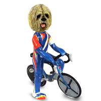 Lhasa Apso Blonde Bicycle Doogie Collectable Figurine