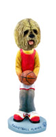 Lhasa Apso Blonde Basketball Doogie Collectable Figurine