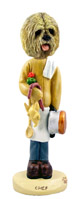 Lhasa Apso Blonde Chef Doogie Collectable Figurine