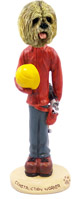 Lhasa Apso Blonde Construction Worker Doogie Collectable Figurine