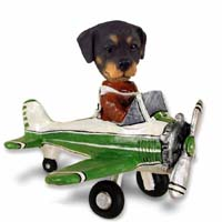 Rottweiler Airplane Doogie Collectable Figurine