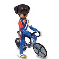 Rottweiler Bicycle Doogie Collectable Figurine