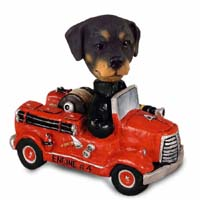 Rottweiler Fire Engine Doogie Collectable Figurine