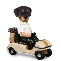 Rottweiler Golf Cart Doogie Collectable Figurine