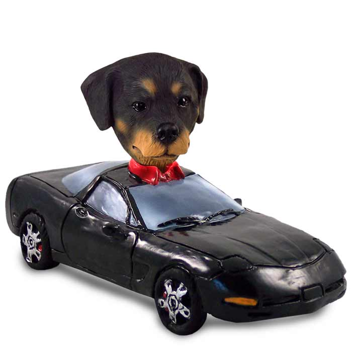 Rottweiler Sports Car Doogie Collectable Figurine