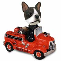 Boston Terrier Fire Engine Doogie Collectable Figurine