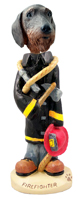 Wire Haired Dachshund Fireman Doogie Collectable Figurine