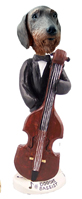 Wire Haired Dachshund Bassist Doogie Collectable Figurine