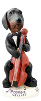 Wire Haired Dachshund Cellist Doogie Collectable Figurine